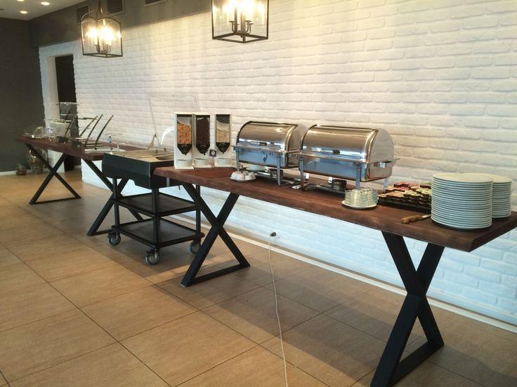 Odaman otel kütük açık büfe masaları02122525667 Marca Dekor #AcikBufeMasa