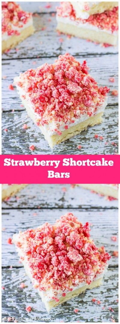 These Strawberry Shortcake Bars are AMAZING! You need to make these for dessert!