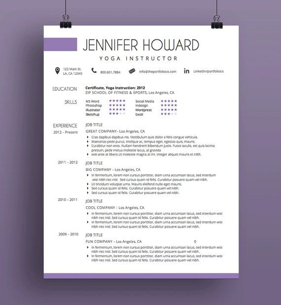 15 best Resume Formats images on Pinterest Cover letter template - mac resume template
