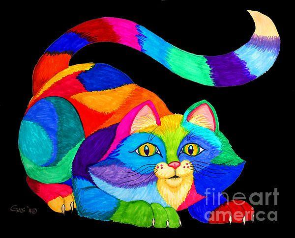 arco iris gatuno, ilustración de Nick Gustafson