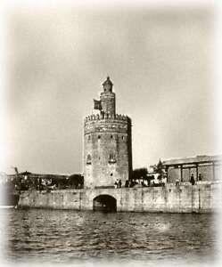 Desembocadura del Rio Tagarete junto a la Torre del Oro, 1893