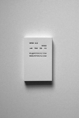 ismini adami | letterpress business card for peter lyle