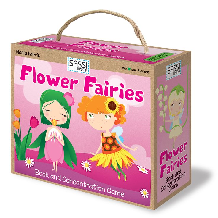 #Sassi Junior: Flower Fairies - Book and concentration game with 20 cards and a 10-pages book. #eco #friendly #game #book