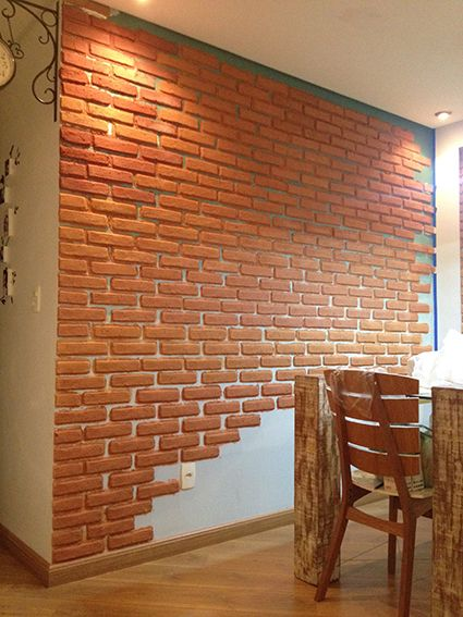 Como fazer parede de tijolinho