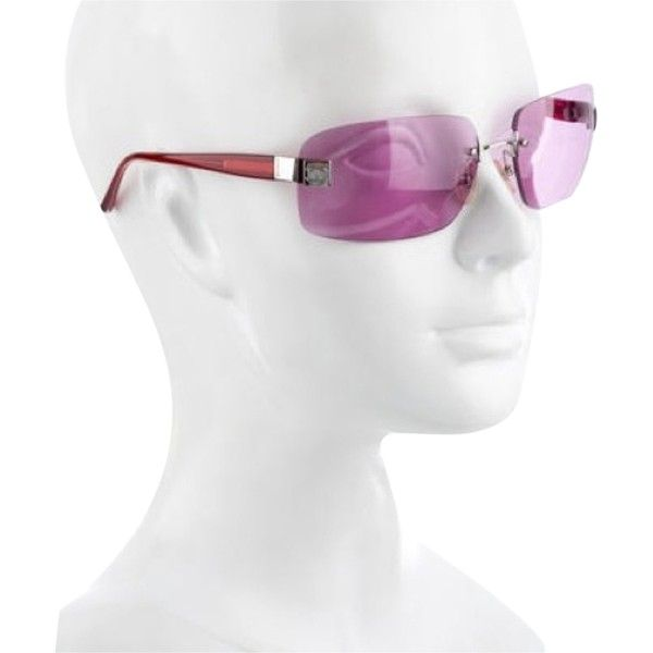 Pre-owned Chanel Pink Red Sunnies ($130) ❤ liked on Polyvore featuring accessories, eyewear, sunglasses, pink, pink sunglasses, chanel glasses, rose sunglasses, logo sunglasses and chanel