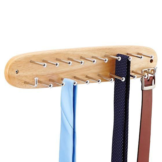 Natural Tie & Belt Rack