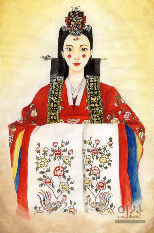 Korean Traditional Wedding Dress by IsabellaBLK on DeviantArt