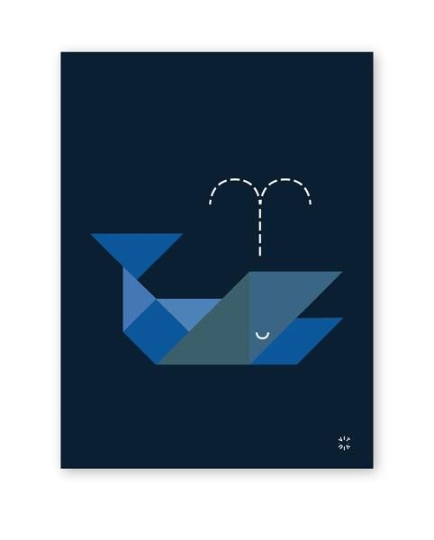 TANGRAM poster - Whale