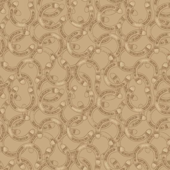 Mountain Pass western horseshoes gray Windham fabric