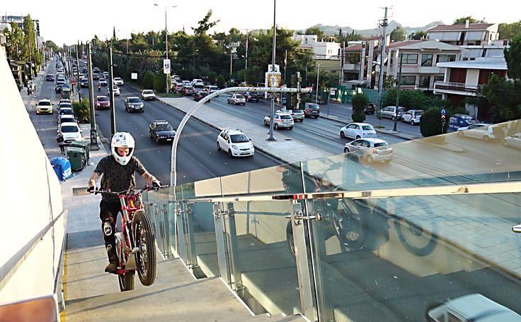 Marios pol γέφυρα στην Κηφησιάς επανω urban freeride