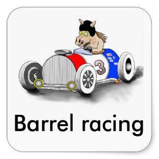 barrel racing square stickers