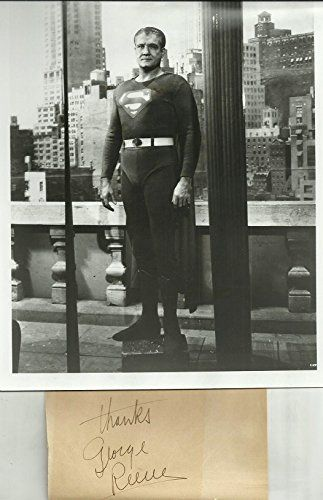 George Reeves Superman #1 Signed Display With 8x10 Photo COA Guarantees Authenticity @ niftywarehouse.com