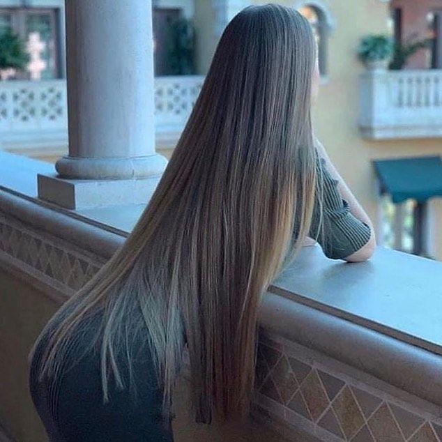 meget langt hår