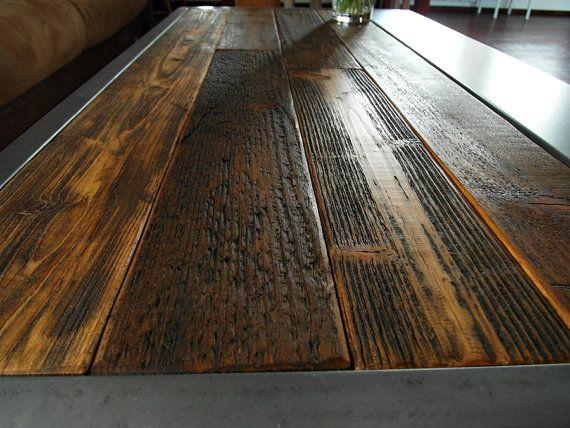 Handmade Rustic Reclaimed Wood & Steel Coffee от DesignInFocus