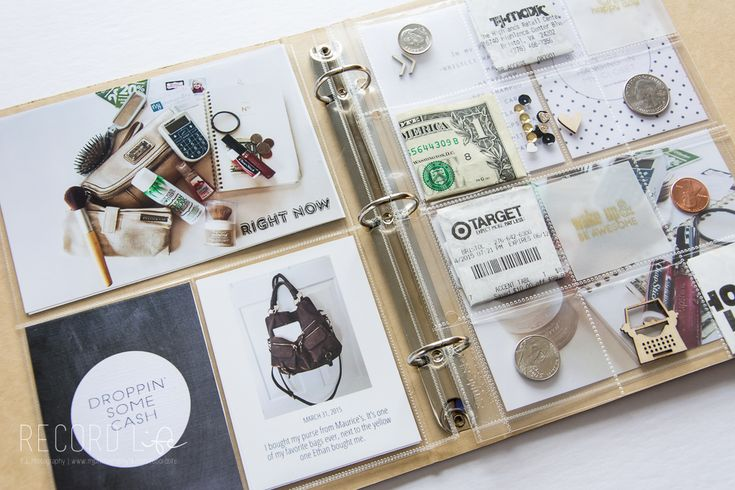 In My Bag | Project Life 6x8 Layout feat. Big City Quiet & Kellie Stamps — Turquoise Avenue