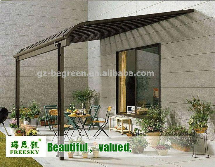 2x2.3m Plastic Roof Pergola Gazebo,Patio Cover,Aluminum Terrace .