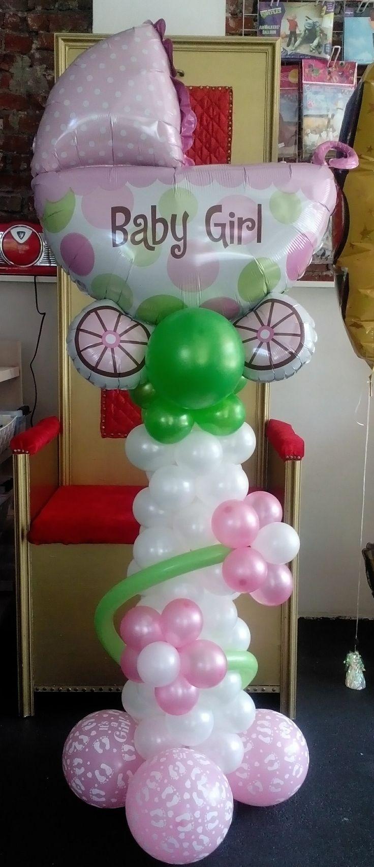 Balloon Columns, Balloon Balloon, Baby Shower Balloons, Baby Shower  Decorations, Baby Gifts, Torres, Globe Decor, Bows, Baby Presents