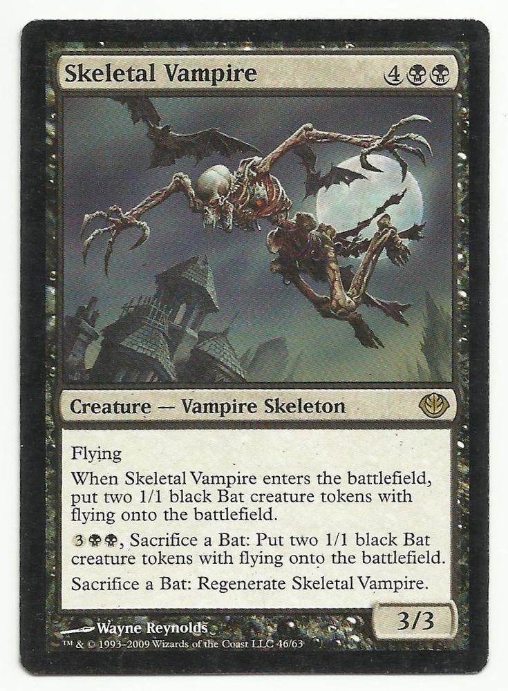 skeletal vampire x1 mtg mp duel decks garruk vs liliana black magic card tcg decks black. Black Bedroom Furniture Sets. Home Design Ideas