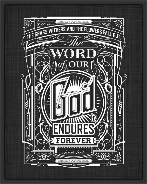 Typography by Tomasz Biernat, via Behance