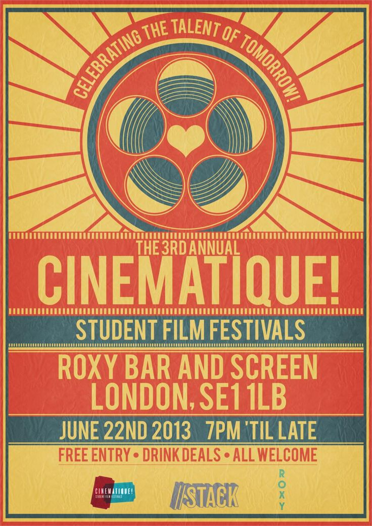 Cinematique film festival poster 2013 by ricgraydesign 4 Sizes Silk Fabric Canvas Poster Print-in Painting & Calligraphy from Home & Garden on Aliexpress.com | Alibaba Group
