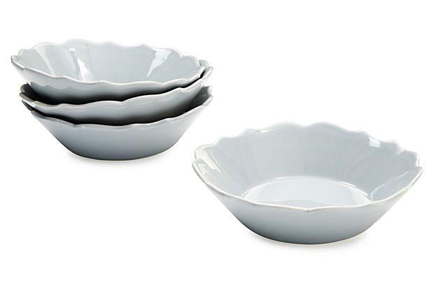 S/4 Baroque Bowls, Pewter on OneKingsLane.com