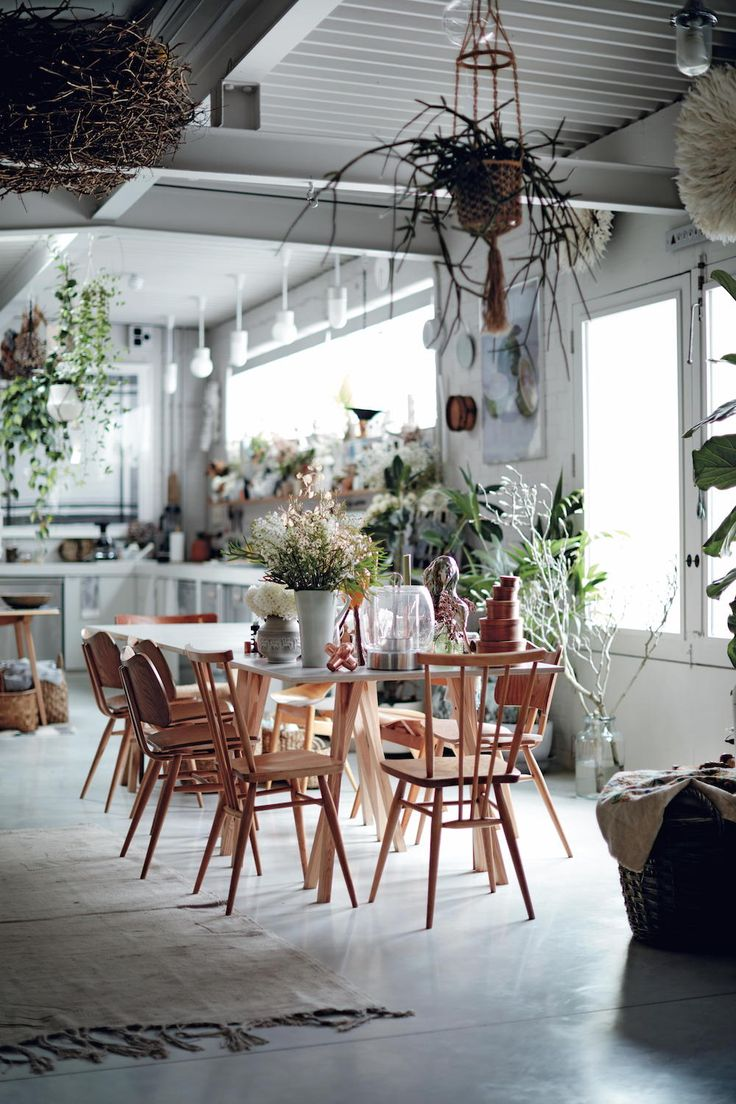 Bright, airy and layered modern rustic dining room in Life Unstyled by Emily Henson