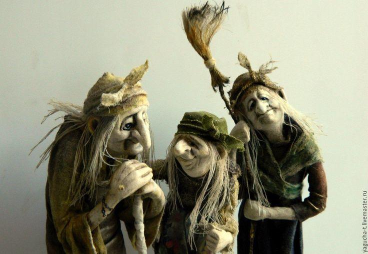 Купить кукла Серия Ягушек-подружек - подарок, сказка, коллекционная кукла, баба яга, хаки