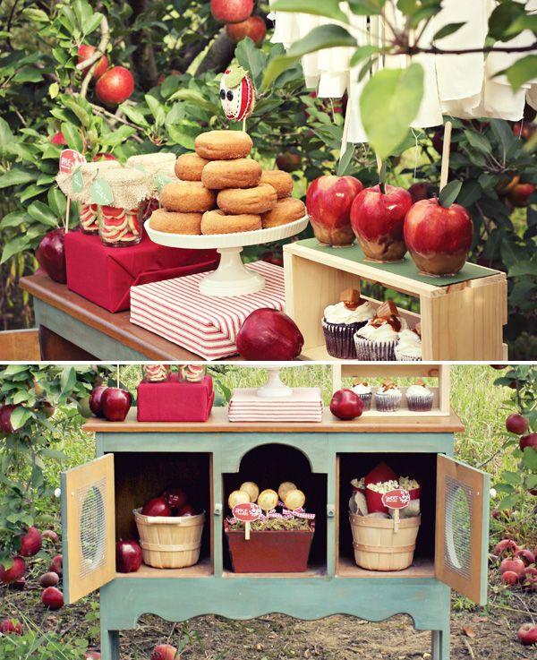 Un sublime anniversaire d'automne pour votre enfant - http://www.instemporel.com/blog/index/billet/10821_theme-anniversaire-pommes