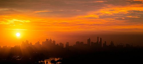 Melbourne Skyline. Purchase this print in a beautifully prepared frame.  http://www.nikartphotography.com/