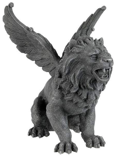 Amazing Winged Lion Gargoyle Statue