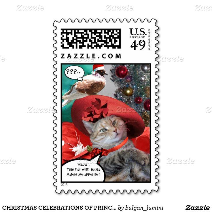 CHRISTMAS CELEBRATIONS OF PRINCESS TATUS CAT STAMPS