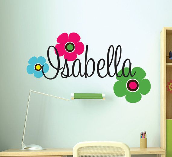 Children Wall Decals Wall Decal Nursery   Teen Wall by LucyLews, $20.00 The colors can be changed to pinks, blacks, whites, limes, turquoise, etc.