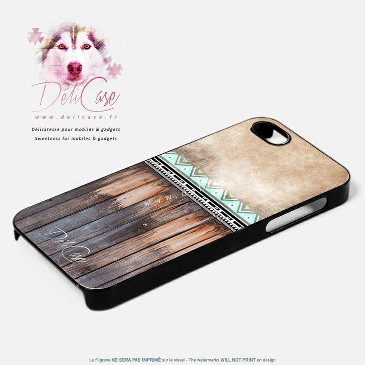 Jolie coque aux couleurs bois et motifs ethniques disponible pour iphone 4 4s - Silicone couleur bois ...