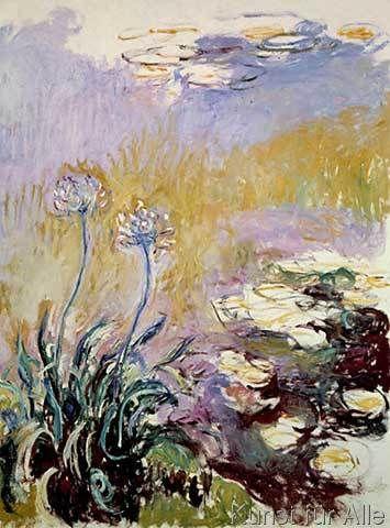 Claude Monet - Les Agapanthes