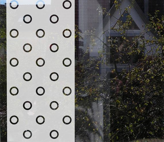 Minimal, Geometric Window Privacy Decal with Rings  Etched by MUSTERLADEN   window privacy film  decorative privacy film window decal sichtschutz folie dekorativer sichtschutz fensterfolie etched window film frosted window film