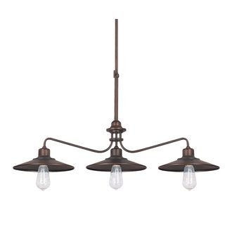 View the Capital Lighting 4198 Urban 3 Light 1 Tier Linear Chandelier at LightingDirect.com.