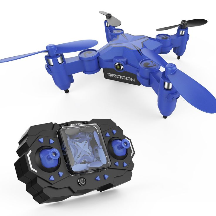 DROCON Scouter Mini Spinning Drone for Kids Foldable Hovering Pocket Quadcopter with Altitude Hold Mode Search Light - 901H Blue: Amazon.co.uk: Toys & Games