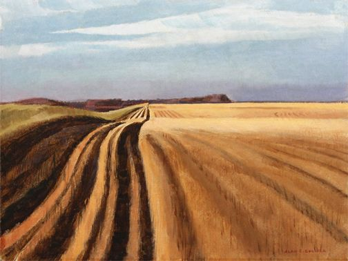 Alan Collier - South-East Of Moosomin Sask. 12 x 16 Oil on board (1982)