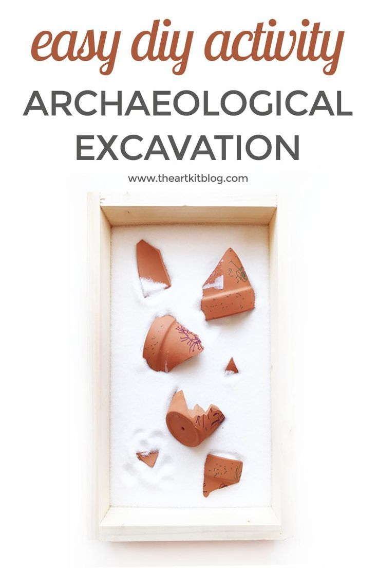 Archaeological Excavation Activity for Kids. We recently put together a quick archaeological excavation activity for the kids to go along with our current studies and they had a blast! Not only was it easy to put together with items we already had around