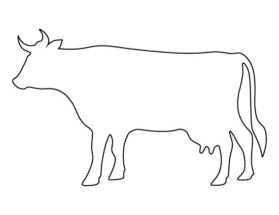 Cow pattern. Use the printable outline for crafts, creating stencils, scrapbooking, and more. Free PDF template to download and print at http://patternuniverse.com/download/cow-pattern/