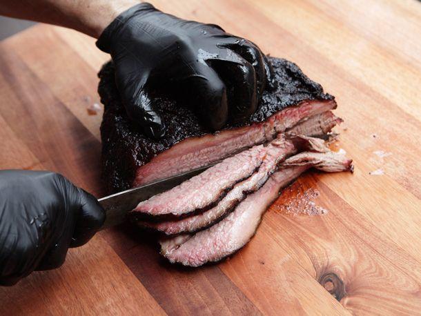 how to cut brisket in half
