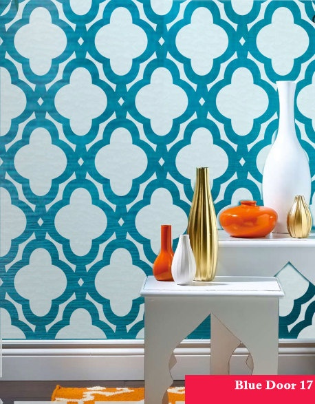 Mac Quatrefoils Abstracted Swirls Wall Stencil Allover Morocco Designer Pattern Decor better than Vinyl decals and Wallpaper. $34.00, via Etsy.