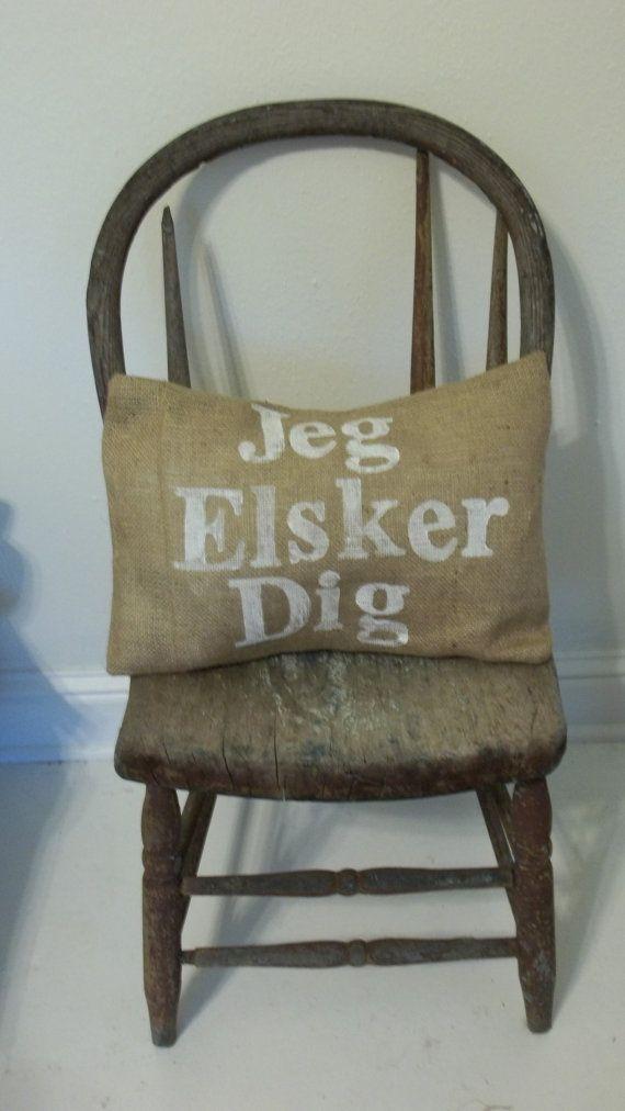 jeg elsker dig - i love you Danish stamped eco friendly by ireckon, $24.00