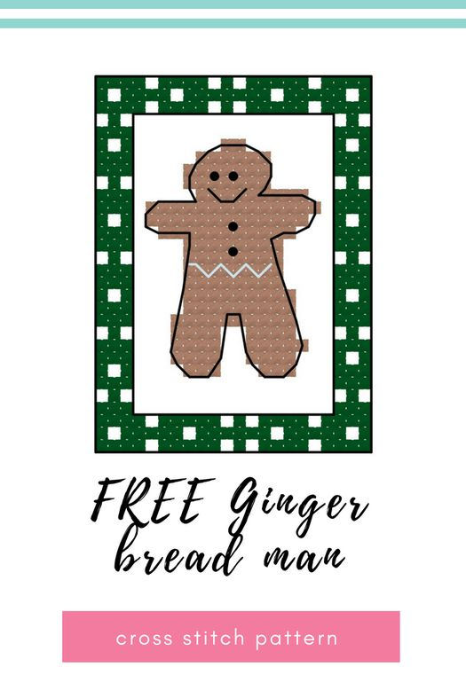 Here is a edible festive treat I do love to eat. Who can resist a gingerbread man! I love the small of Gingerbread at Christmas time, so warming. In today's pattern I've experimented with a different boarder pattern leaving some of the boarder un-stitched. This Ginger bread man will be a great addition to the advent calendar.