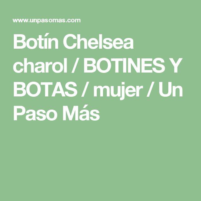 Botín Chelsea charol / BOTINES Y BOTAS / mujer / Un Paso Más