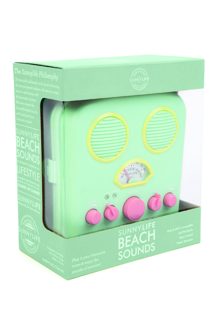 All That I Need - Sunny Life Beach Sounds - Portable Music Player, $49.00 (http://www.allthatineed.com.au/products/beach-sounds-portable-music-player.html)