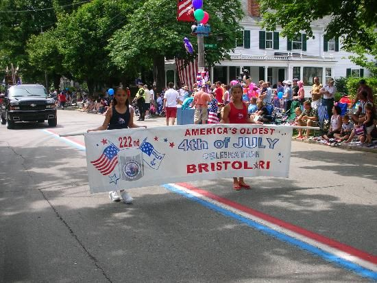 4th of July parade on Hope Street, Bristol, Rhode Island. The oldest, continuous Independence Day celebration in the country dating back to July 3-4, 1785. You can look it up.
