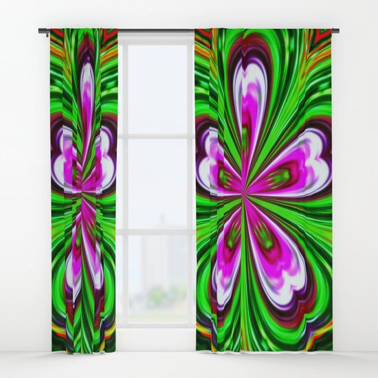 Abstract - Petals Window Curtains