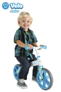 Y Velo Junior Balance Bike is a training bicycle that helps toddlers learn how to steer and balance. It allows children to build the confidence they will need once they are ready for a more traditional bicycle with pedals—no training wheels required!   As a child develops balance and assurance, Y Velo Junior Balance Bike grows with them.  Buy at: http://amzn.to/1xUoqxp