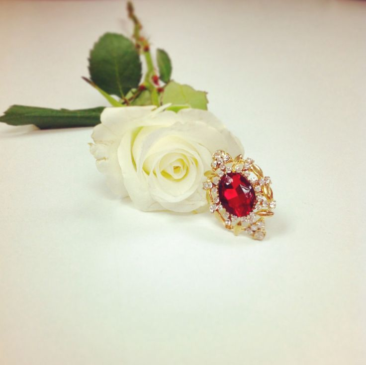 A ring and a rose can be all a girl needs...